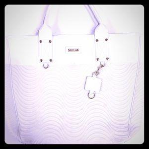 Versace White Tote Bag Gold Hardware